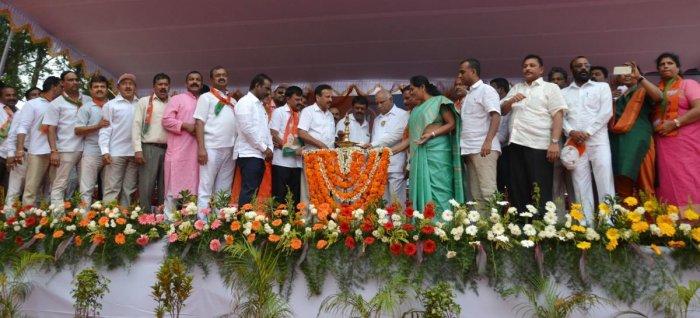 BJP will win 150 seats in the state: B S Yeddyurappa