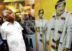 Yeddyurappa enjoys 'Eradane Maduve'