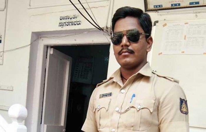 Nagaraj suspended constable Aruna Dollina for sharing a facebook post. (Facebook/Arun Dollin)