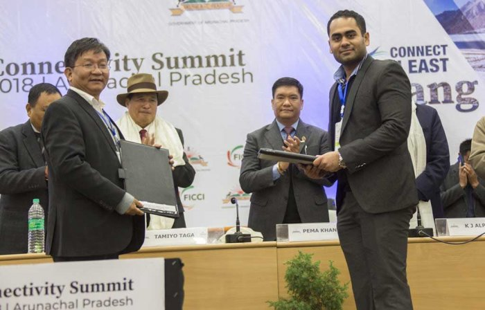 Arunachal Pradesh government on Wednesday signed MoUs with at least 17 private companies. (Source: Twitter/PemaKhandu))