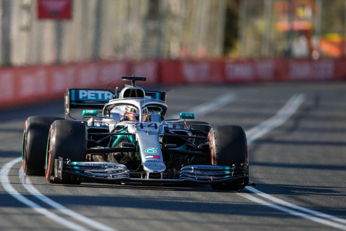 Mercedes driver Lewis Hamilton topped both practice sessions on Friday, ahead of the Australian Grand Prix. Picture credit: AFP