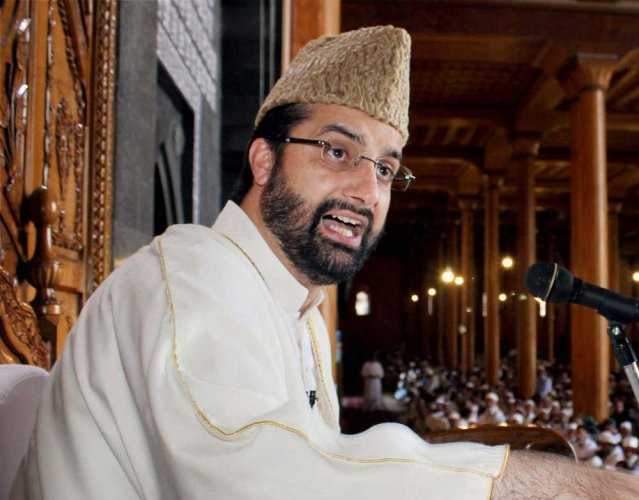 Moderate Hurriyat Conference chairman Mirwaiz Umar Farooq. PTI photo.