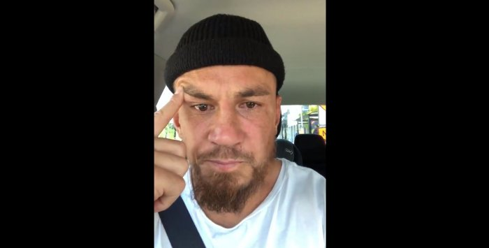 The devout Muslim, wearing a skull cap, wiped away tears several times in the brief footage which he filmed sitting in a car.
