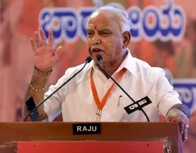 BJP's chief ministerial candidate B S Yeddyurappa emerged victorious by defeating his nearest rival Congress candidate G B Malatesh in Shikaripura assembly constituency. DH photo