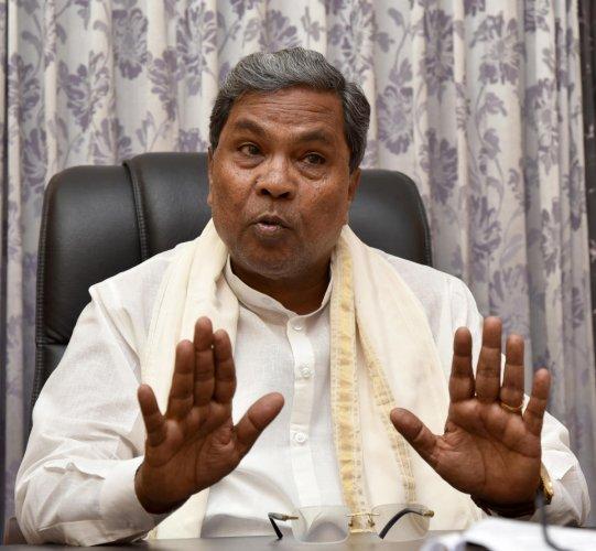Chief Minister Siddaramaiah. DH photo