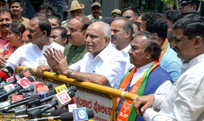 BJP leader B S Yeddyurappa will take oath as chief minister at 9 am on Thursday with Governor Vajubhai Vala on Wednesday evening ending the suspense on government formation by sending a formal invitation to the saffron party leader.