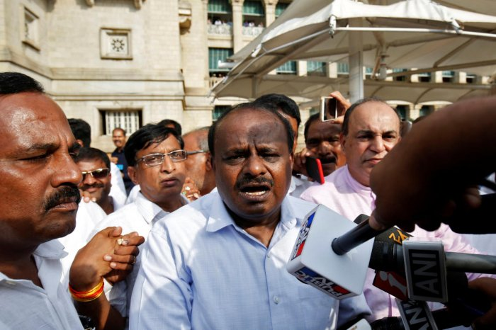Kumaraswamy indicated that a few other MLAs, including those from the Congress, will take oath along with him. (Reuters)