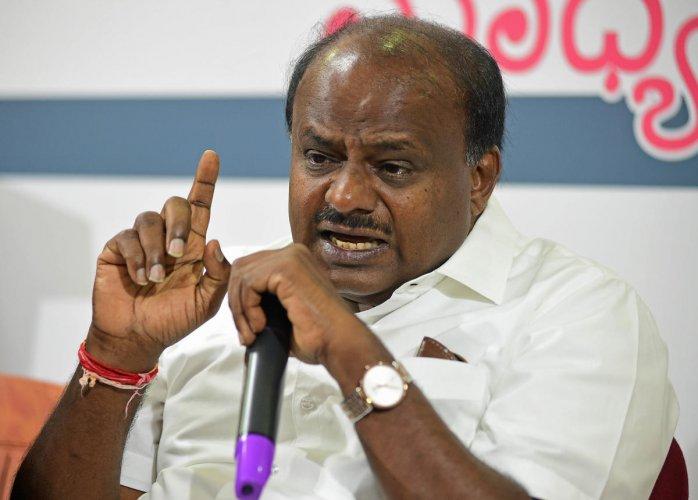 Karnataka Chief Minister H D Kumaraswamy. DH file photo.