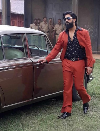 Yash plays a gangster in KGF.