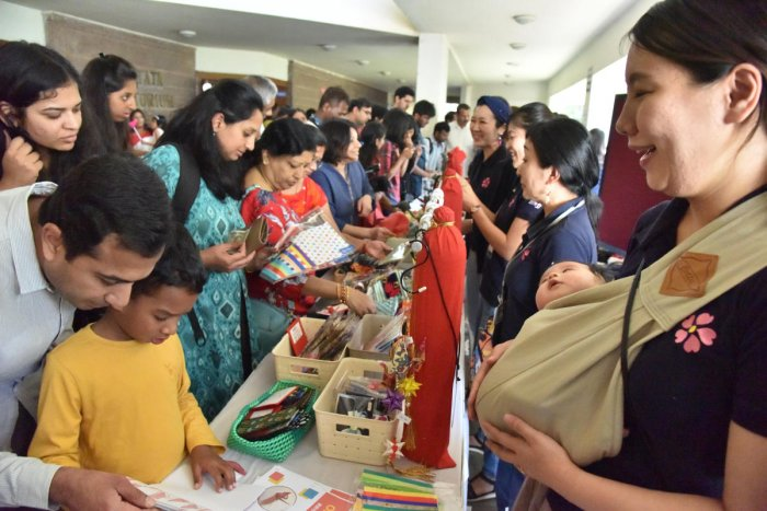 Visitors at the Japan Habba at JN Tata auditorium, IISc organised by Japan Habba Trust in Bengaluru on Sunday 03rd February 2019. Photo by Janardhan B K