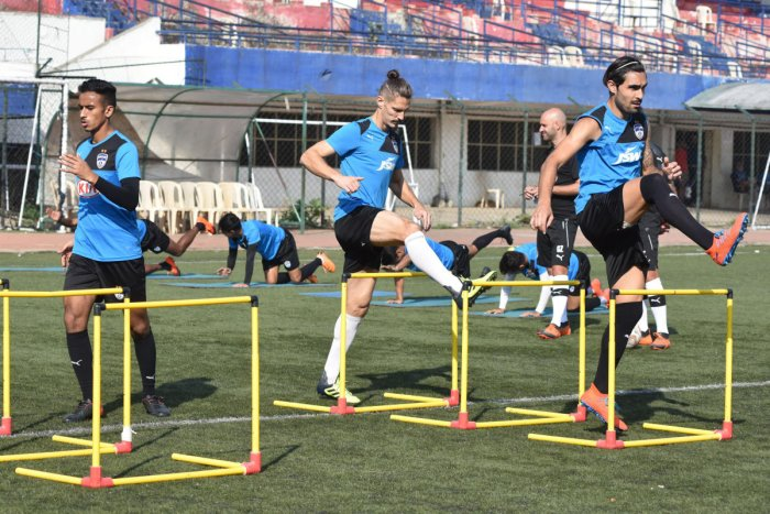 Bengaluru FC will look to seal their play-off berth when they take on Delhi Dynamos in New Delhi on Sunday. DH PHOTO/ SK Dinesh