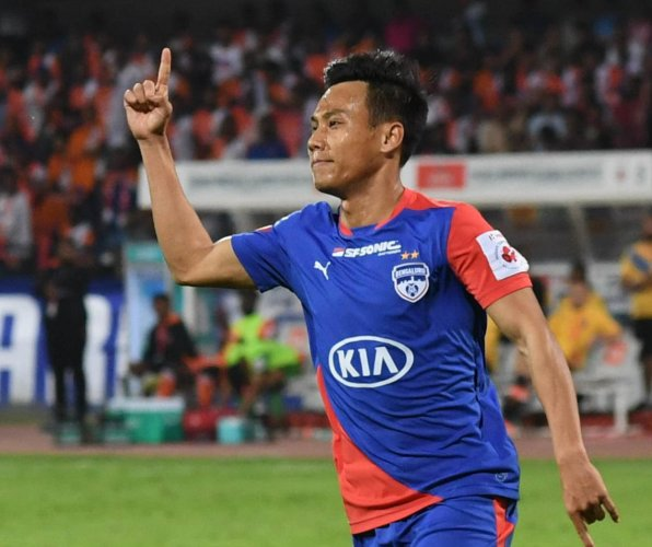 Bengaluru FC's Udanta Singh has made rapid improvements to establish himself as a sure starter for the club. DH FILE PHOTO