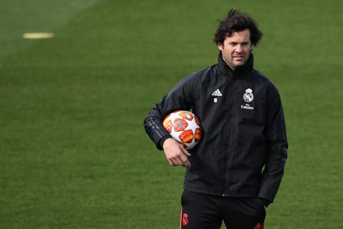 PLENTY OF PROBLEMS: Under pressure Real Madrid coach Santiago Solari will be aiming to get his team back on track against Ajax on Tuesday. AFP