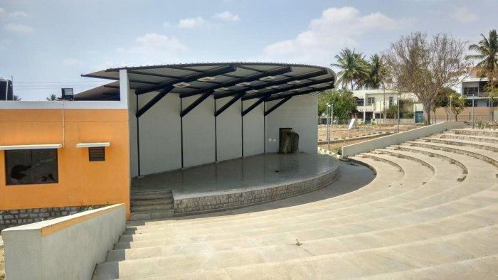 The amphitheatre in Gokulam Third Stage in Mysuru.