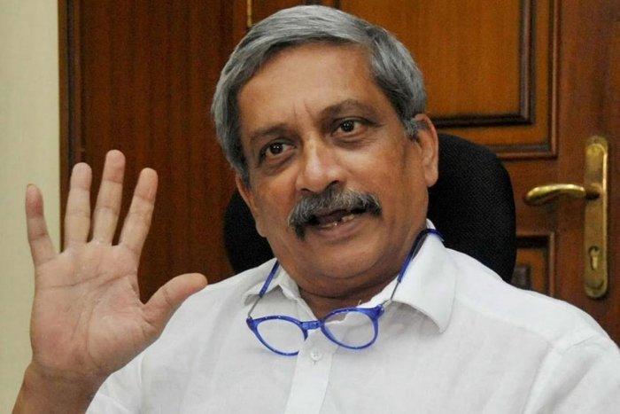 Goa Chief Minister Manohar Parrikar. File photo