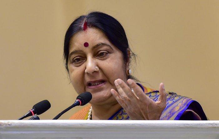 External Affairs Minister Sushma Swaraj. PTI file photo