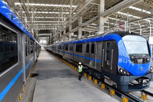 Young woman steers Chennai's first Metro train