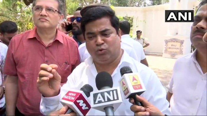 Goa Congress leader Chandrakant Kavlekar. (ANI/Twitter)