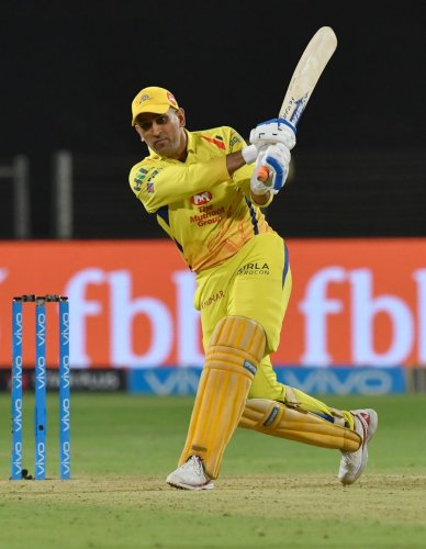 Chennai Super Kings captain MS Dhoni has been effective in his team's march to the play-offs. File Photo
