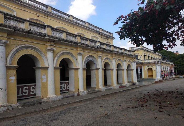 Nanjaraja Bahadur Choultry in Mysuru.(DH Photo by T R Sathish Kumar)