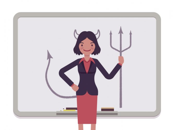 Since people are not used to seeing women at the top of the ladder, they sub-consciously associate leadership with 'masculine traits'.
