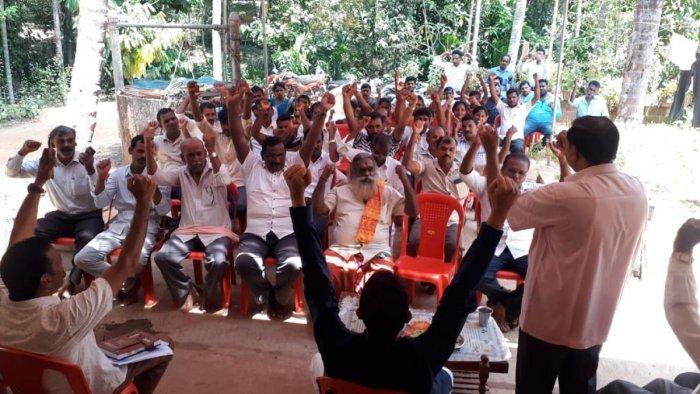 BJP Shakthi Kendra workers' meeting organised at Bilinele Montadka.
