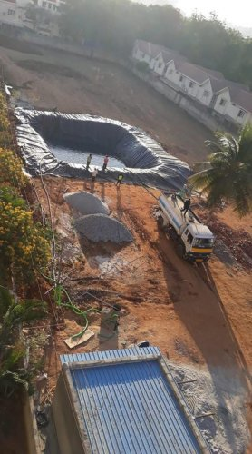 One of the large storage tanks dug up in Ramagondanahalli near Whitefield.