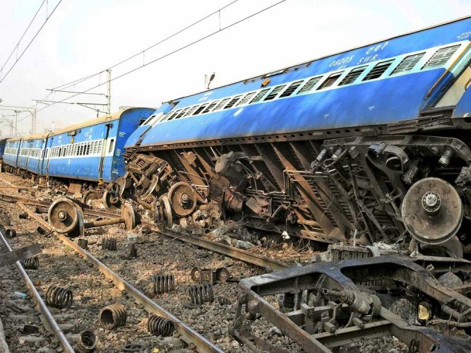 At least four coaches of Himalayan Queen Express train derailed near Panipat in Haryana this morning creating panic. PTI file photo for representation only