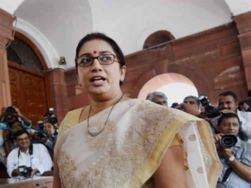 Smriti Irani defends IIT-Madras' action on student group
