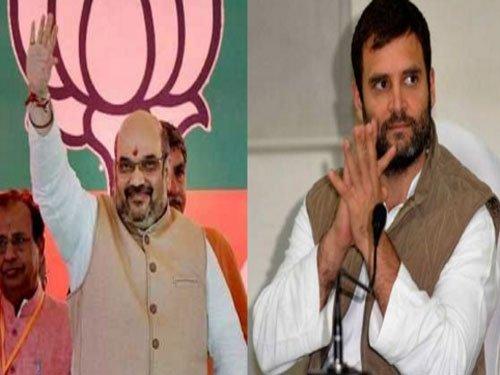 JNU row: Shah, Rahul trade bitter charges