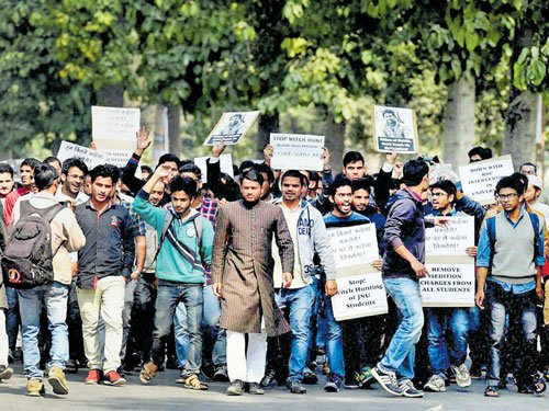 JNU VC appeals to students to reconsider march