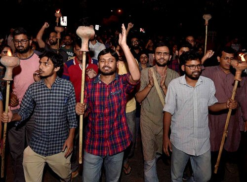 Hunger strike by JNU students 'unlawful': VC