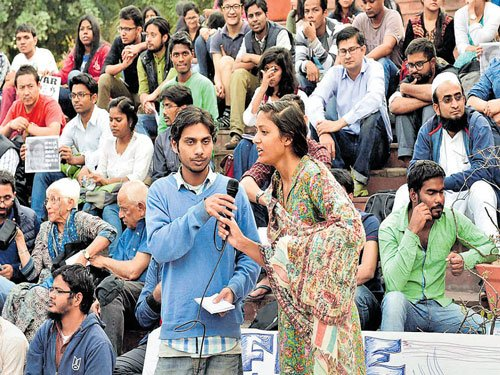 Another JNU student hospitalised on 14th day of stir