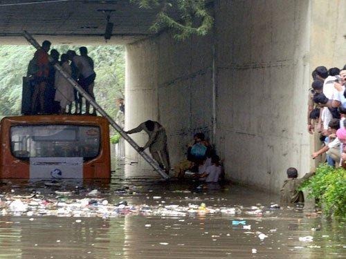 Delhi gets season's highest rainfall
