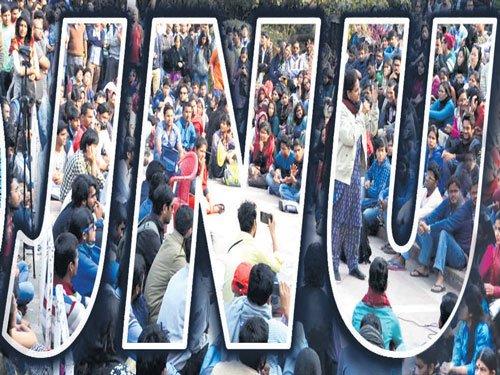 JNU students strike over massive seat cuts in Phd, MPhil