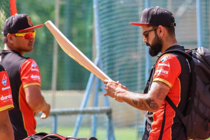 RCB's Virat Kohli during a training session in Bengaluru. SK Dinesh/ DH Photo