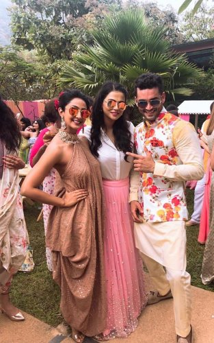 (From left) Aindrita, Sharmiela Mandre and and Diganth.