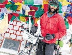 Mysore youth pedals 6,070 km