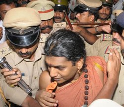 Nithyananda walks out of Mysore jail