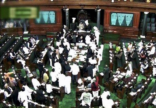 Parliament adjourned till noon after pandemonium