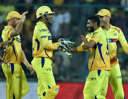 CSK beat Delhi Daredevils by eight wickets