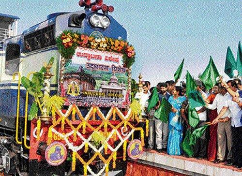 Chikmagalur-B'lore train flagged off