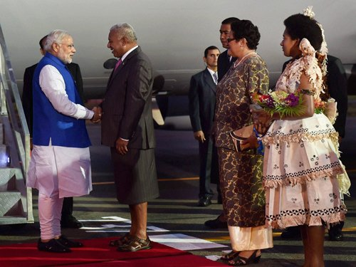 Fiji opposition boycotts Modi address to parliament