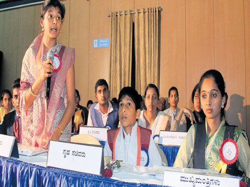 Students debate over issues at State-level youth parliament