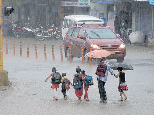 Rain lashes Chikkamagaluru, Davangere