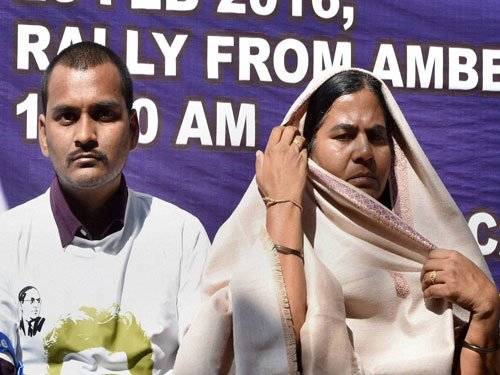Irani resorted to 'blatant lies' in Parliament:Rohith's mother