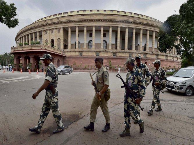 Man threatens self-immolation near Parliament