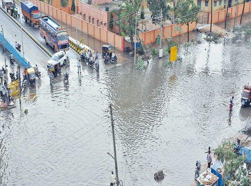 Heavy rains pound Davangere, Shivamogga