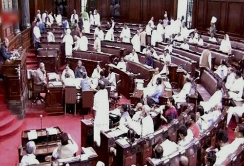 BJP MPs force RS to adjourn over AAP MP's video on Parliament
