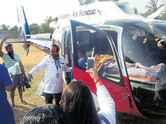 Air ambulance debuts with flight from Ballari to B'luru